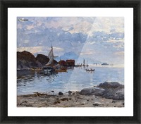 Fishing village in northern Norway Picture Frame print