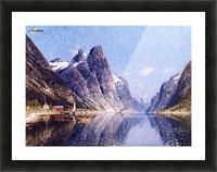 A Norwegian Fjord Scene Picture Frame print