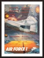 1984 Nike Air Force 1 Shoe Advertisement  Picture Frame print
