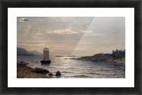 Seilskute i kystlandskap Picture Frame print