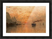 Ships in the Sunset Picture Frame print