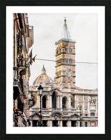 Street View Toward Basilica di Santa Maria Maggiore Rome Picture Frame print