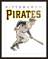 vintage pittsburgh pirates wall art Picture Frame print