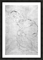 Liegender female over the head with entangled arms by Klimt Picture Frame print
