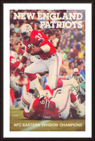 1979 New England Patriots Retro Football Poster Picture Frame print