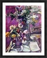 Lilac and tulips by Corinth Picture Frame print