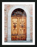 Ornate Wooden Door Citta della Pieve 1 Picture Frame print