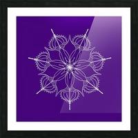 blue flower mandala Picture Frame print