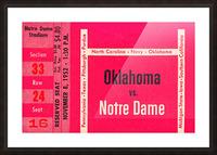 1952 Oklahoma vs. Notre Dame 1st National TV Game Picture Frame print