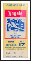 1981 california angels baseball ticket stub sports wall art Picture Frame print