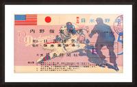 1956 brooklyn dodgers tour of japan baseball ticket stub canvas sports art Picture Frame print