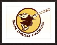 Retro San Diego Padres Art Picture Frame print