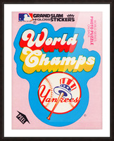 1979 fleer sticker new york yankees world champs poster Picture Frame print