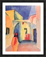 Look in a lane by Macke Picture Frame print