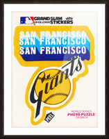 1979 fleer hi gloss san francisco giants sticker poster Picture Frame print