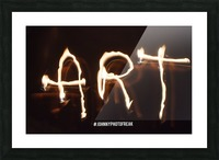Fire Art Picture Frame print