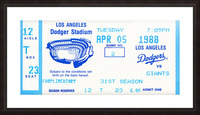 1988 la dodgers giants dodger stadium baseball ticket wall art sports gift Picture Frame print