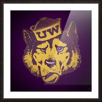 Vintage UW Husky Art Picture Frame print