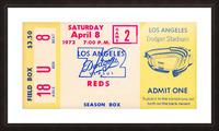 1972 la dodgers field level box baseball ticket stub canvas art Picture Frame print