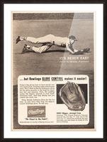 1963 brooks robinson rawlings baseball glove ad Picture Frame print