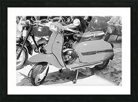 Lambretta Scooter Black and White Picture Frame print