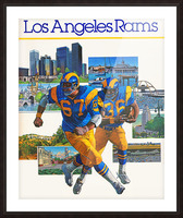 1982 la rams downtown los angeles hollywood poster Picture Frame print