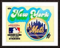 1979 fleer hi gloss sticker new york mets wall art Picture Frame print