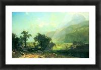 Lucerne Switzerland by Bierstadt Picture Frame print