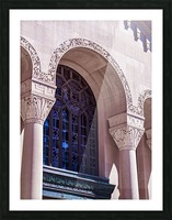 Foster Memorial Window Picture Frame print