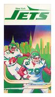 1981 new york jets football art Picture Frame print