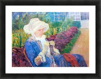 Lydia in the garden of Marly by Cassatt Picture Frame print