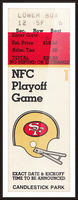 1984 san francisco 49ers nfl football ticket art nfc playoff game Picture Frame print