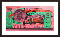 1951 indianapolis 500 mile sweepstakes auto race Picture Frame print