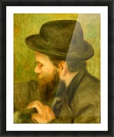 M Bernard man with the black hat Picture Frame print