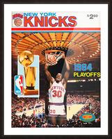 1984 new york knicks nba basketball playoffs bernard king program poster Picture Frame print