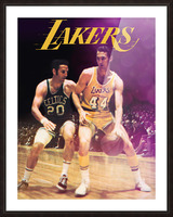 1969 los angeles la lakers jerry west poster Picture Frame print