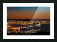 City to City - Berkeley to San Francisco Picture Frame print