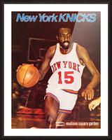 1977 new york knicks basketball poster Picture Frame print