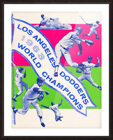 1963 la dodgers world champions poster art Picture Frame print