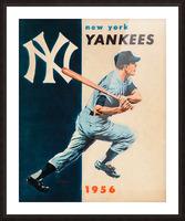 1956 new york yankees vintage baseball art Picture Frame print