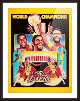 1982 LA Lakers Champion Poster Picture Frame print
