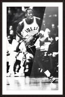 1985 Michael Jordan Black and White Poster Picture Frame print