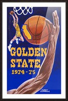 1974 golden state warriors basketball art murray olderman artist Picture Frame print
