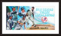 1981 new york yankees baseball season ticket information art Picture Frame print