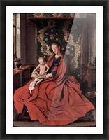 Madonna and child reading by Jan Van Eyck Picture Frame print