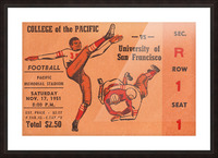 1951 college of the pacific university of san francisco stockton california Picture Frame print