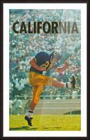 vintage california football art Picture Frame print