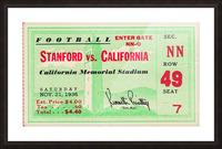 1936 Cal vs. Stanford Picture Frame print