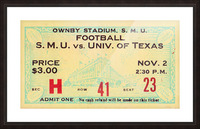 1935 SMU National Champions vs. Texas Picture Frame print