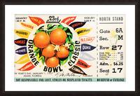 1957_College_Football_Orange Bowl_Clemson vs. Colorado_Orange Bowl Stadium Picture Frame print